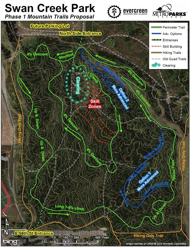 Swan Creek Trail Map