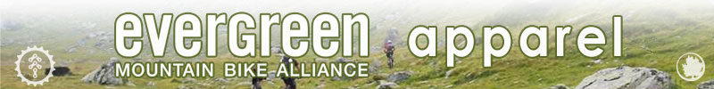 Evergreen MTB Alliance branded apparel