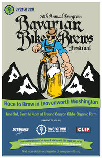 Bavarian Bike and Brew Day Poster