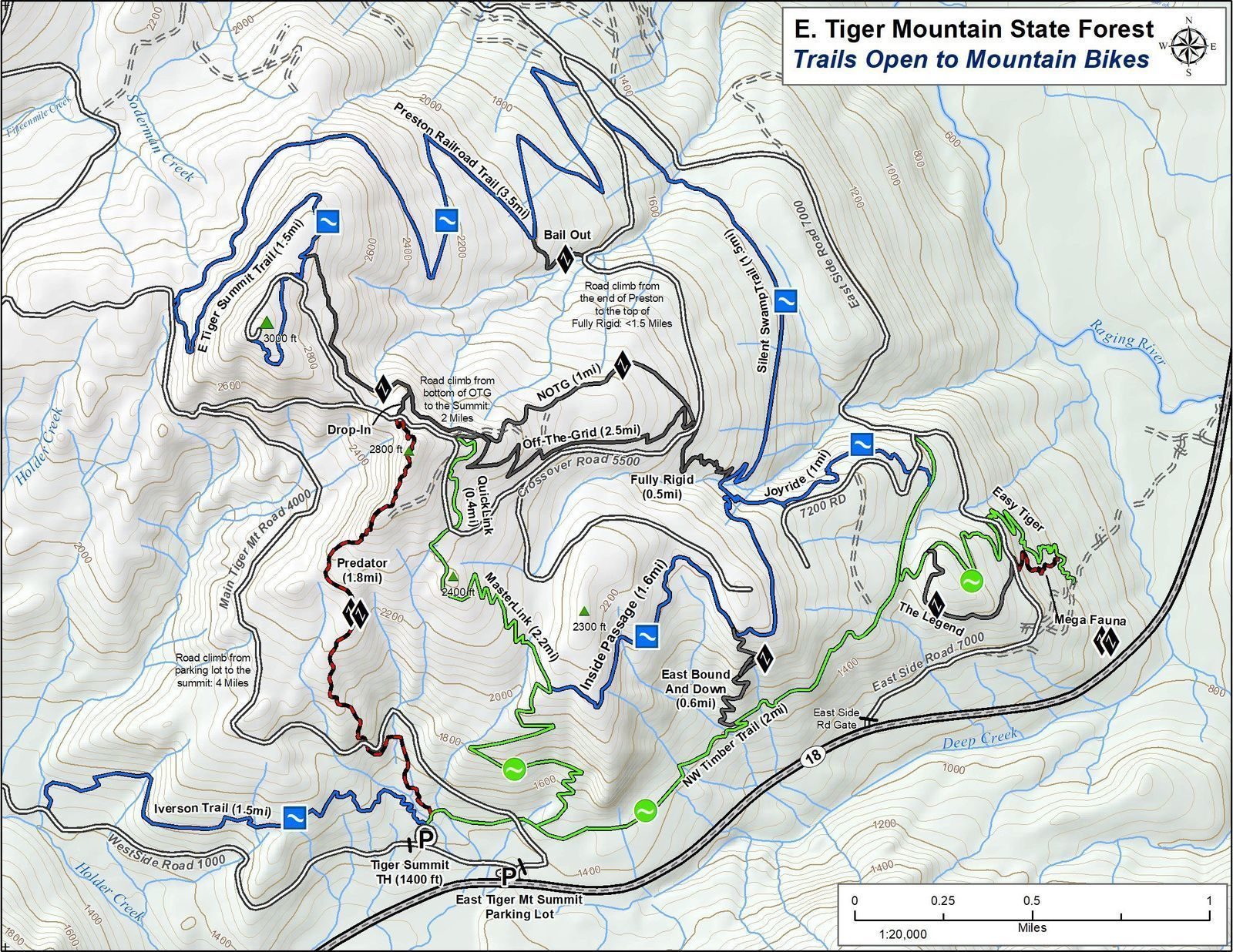 Tiger Mountain Map Tiger Mountain Tiger Mountain Map