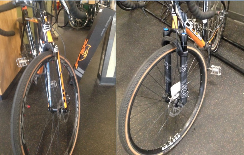 Here is the before and after shots of the fork upgrade.